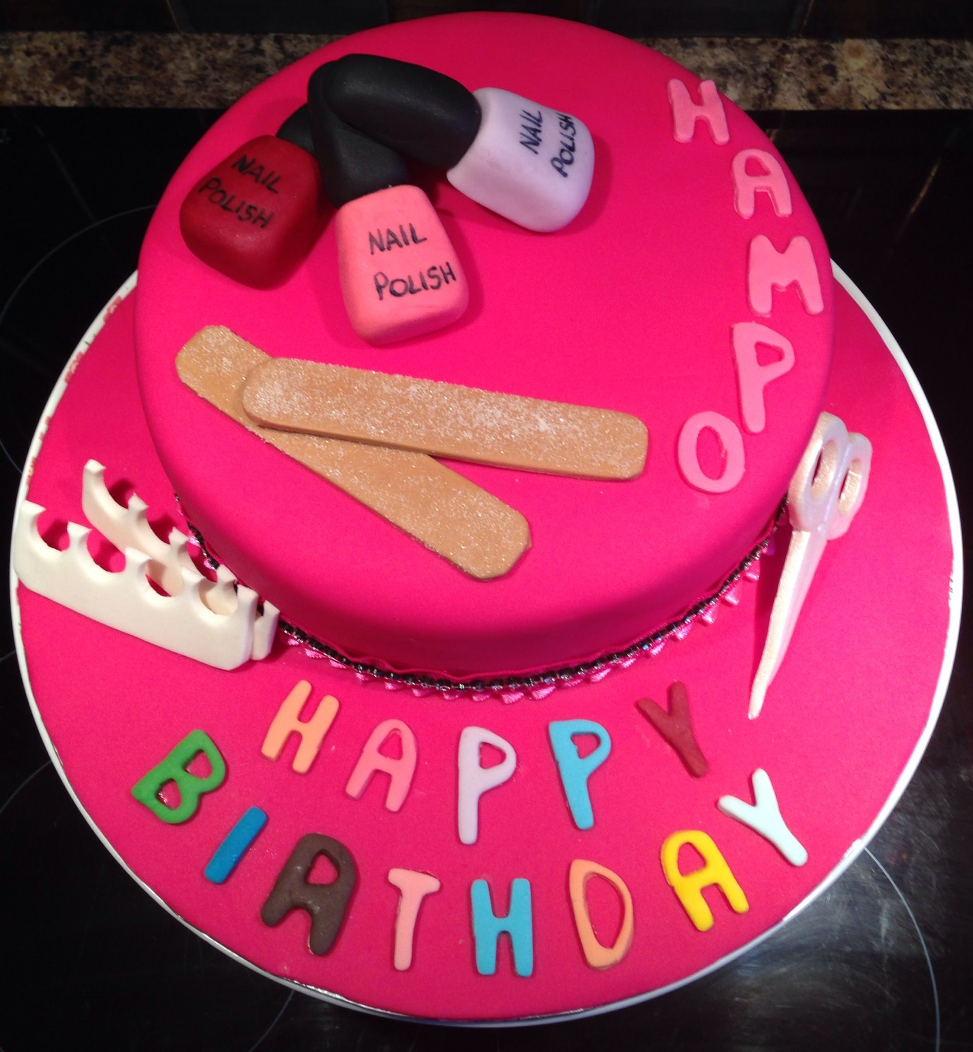 Nail Cake: Emery Boards, Scissors And Toe Spacers