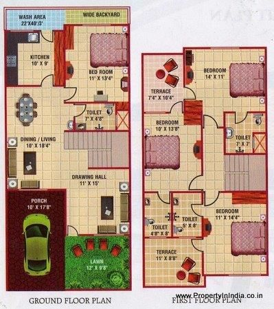 Floor plan duplex house bangalore gurus floor for 30x50 duplex house plans
