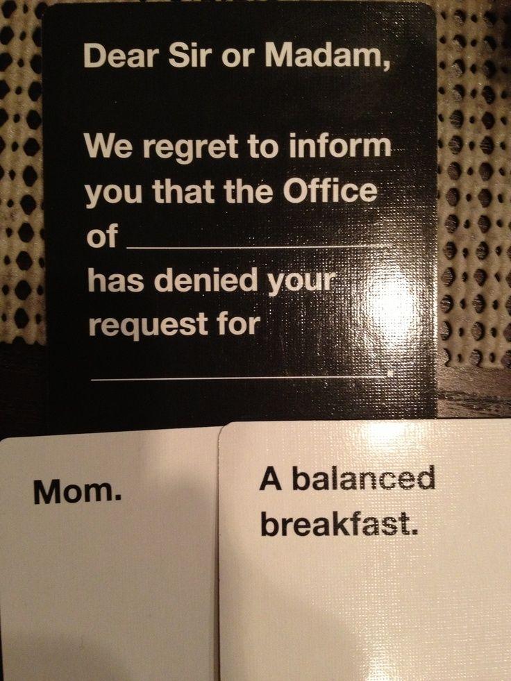 Cards against humanity custom ideas funniest cards