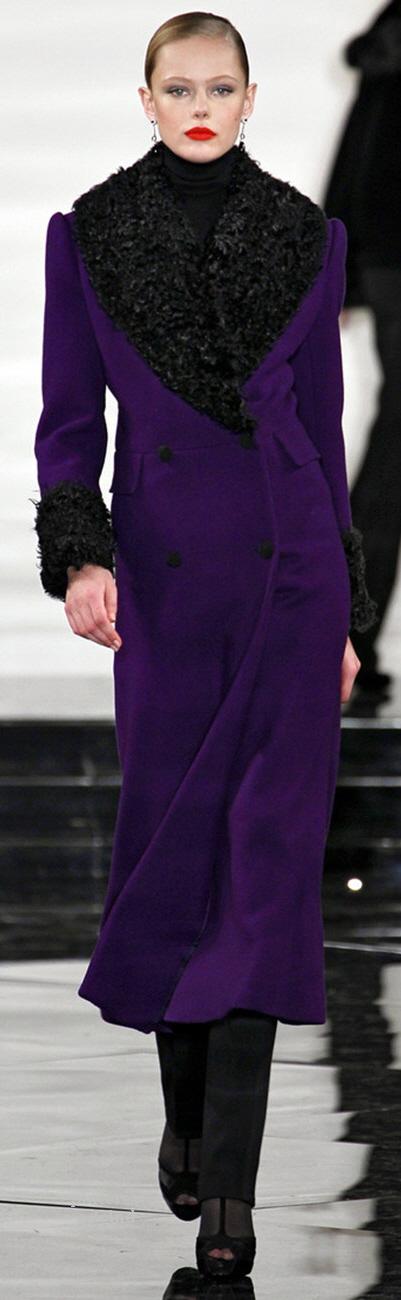 Royal Purple Winter Fashionable Overcoat.