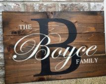 Last Name Wood Sign- Wedding Signs- Wood Signs - Gift for Newly Weds - Wedding…
