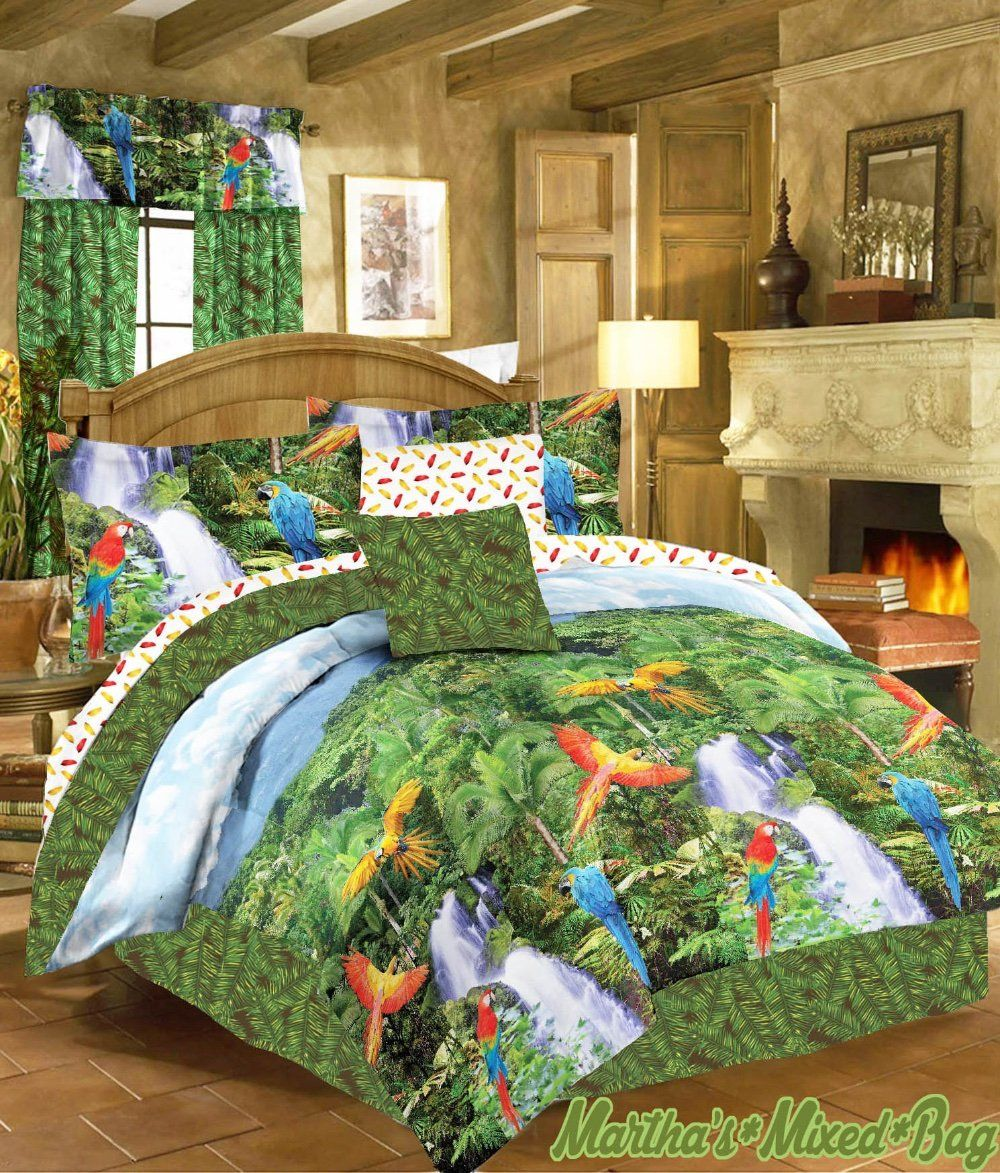 Related Image Decorating With Parrots Bettdecke Bett