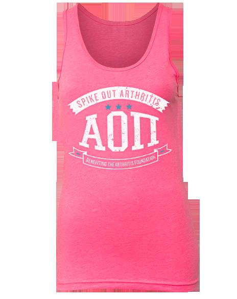 Alpha Omicron Pi Play to Win Tank by Adam Block Design | Custom Greek Apparel & Sorority Clothes | www.adamblockdesign.com