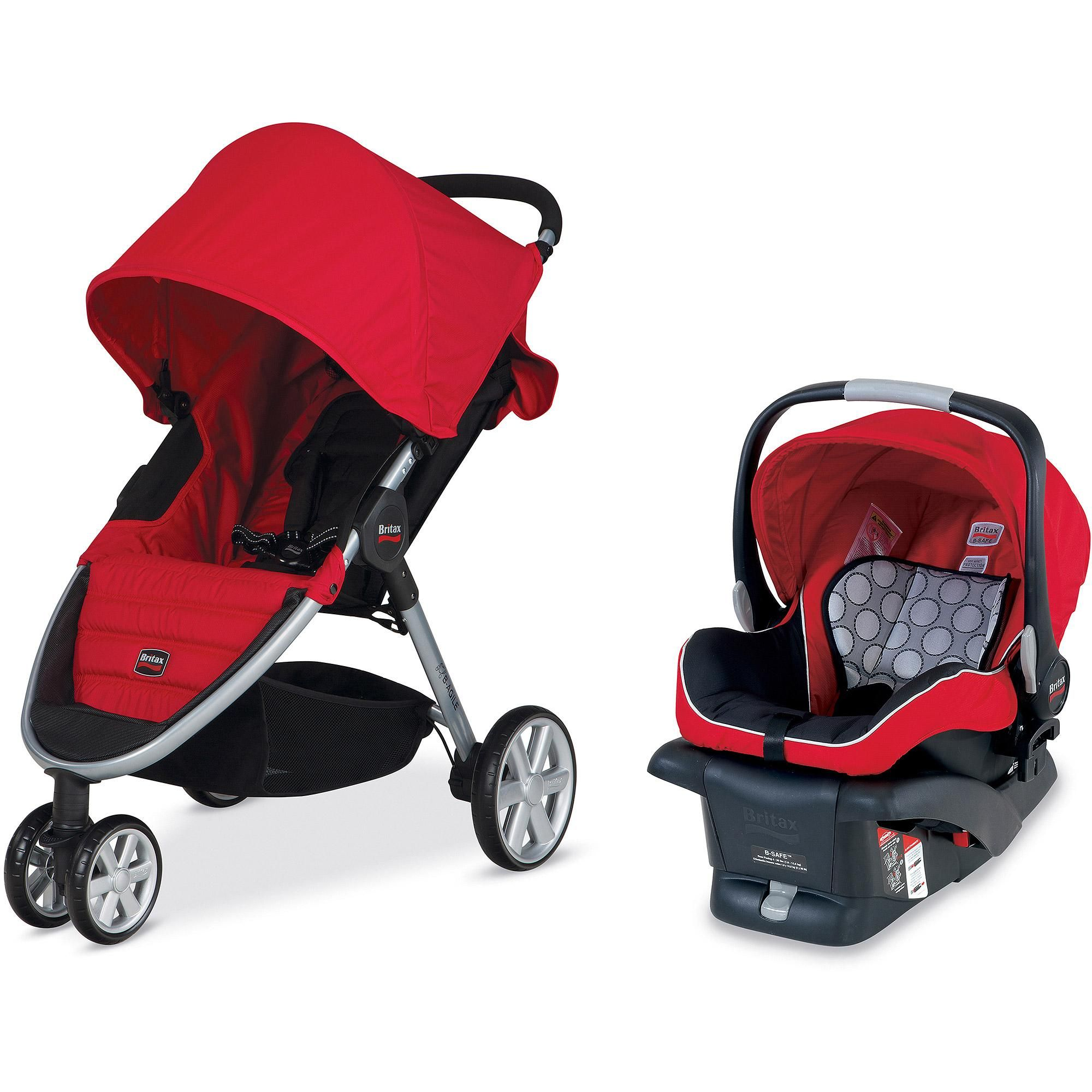 Britax 2014 BAgile and BSafe Travel System Red Britax