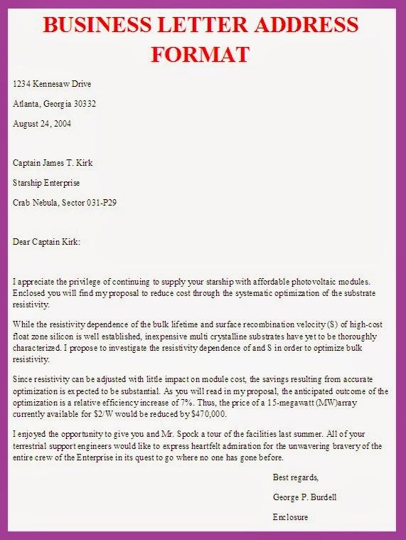 Letter Template Address (9 di 2020