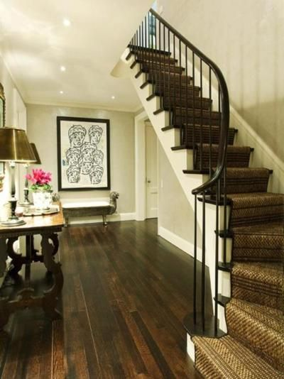 Dark Wood Floors And Wall Color Oatmeal Ish Home Hardwood Floors Dark House