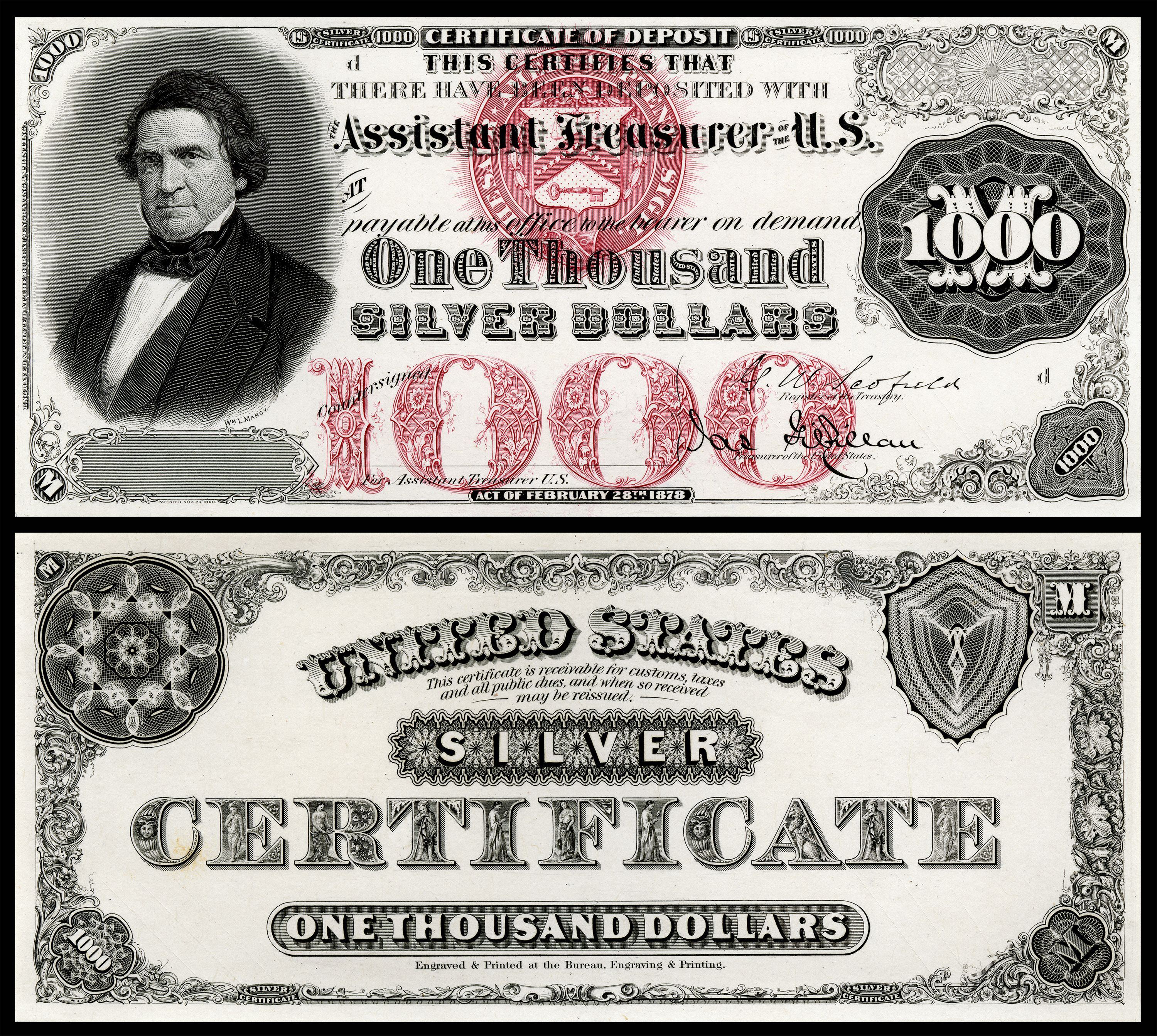 1000 dollar silver certificate series 1878 currency pinterest 1000 dollar silver certificate series 1878 xflitez Images