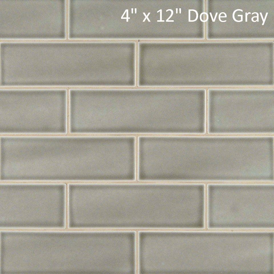 Handcrafted Dove Gray 4 X 12 Highland Park Crackle Finish Porcelain Tile 9 87 Sq Ft Handcrafted Ceramic Tile Ceramic Wall Tiles Grey Subway Tiles