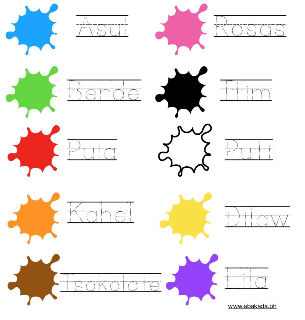 Filipino Worksheets For Preschoolers Colors In Filipino Fun Worksheets For Kids 1st Grade Reading Worksheets 1st Grade Math Worksheets [ 1022 x 974 Pixel ]