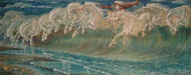 Walter Crane - The Horses of Neptune
