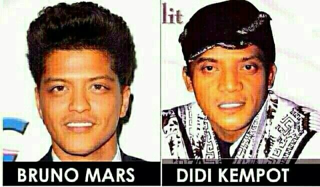 Bruno Mars Didi Kempot Dengan Gambar Lucu Meme Bruno Mars