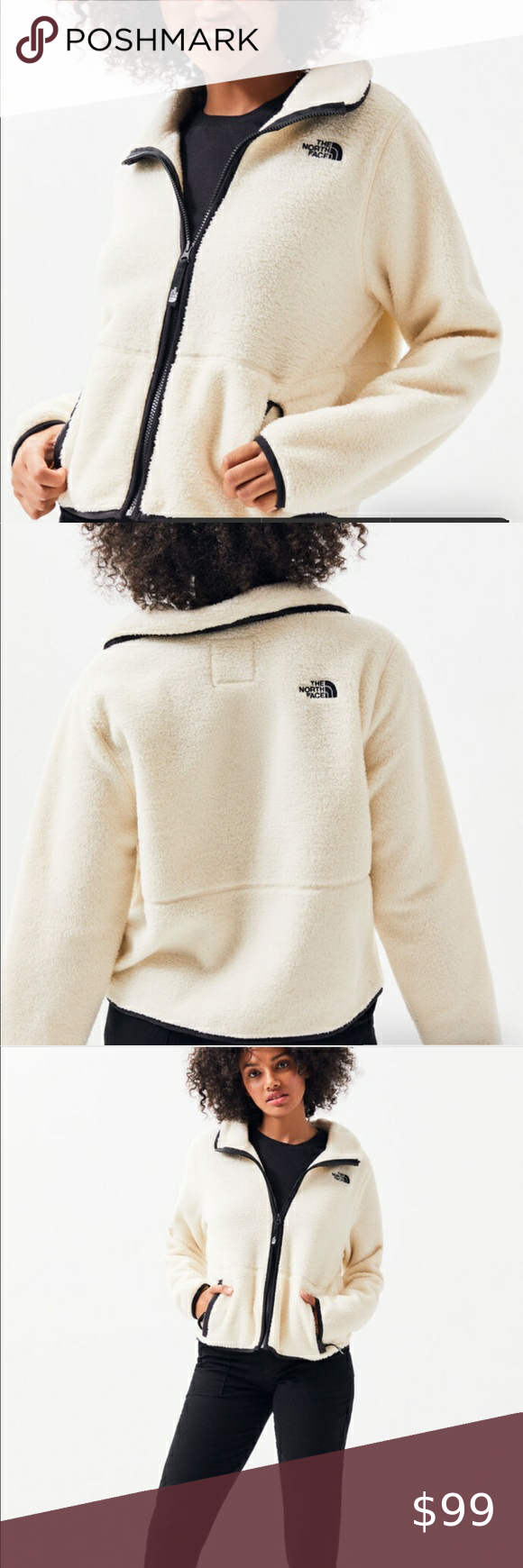 North Face Dunravel Sherpa Cropped Jacket New Xl Crop Jacket White Sherpa Jacket North Face Jacket [ 1740 x 580 Pixel ]