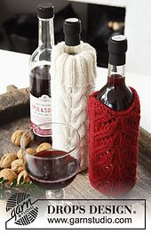 Ravelry: 0-995 Pour on the Charm! - Bottle cover in Nepal pattern by DROPS design