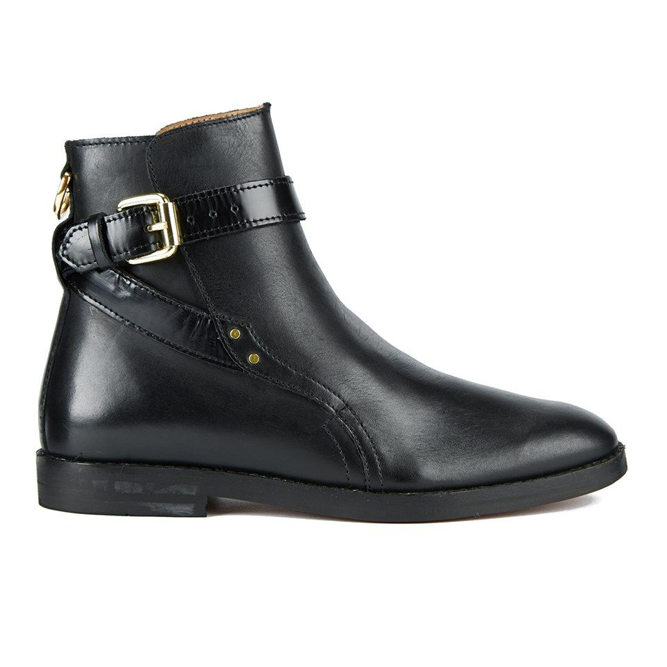 Buckle Leather Shoe - Black leather Hudson j80wwojb9