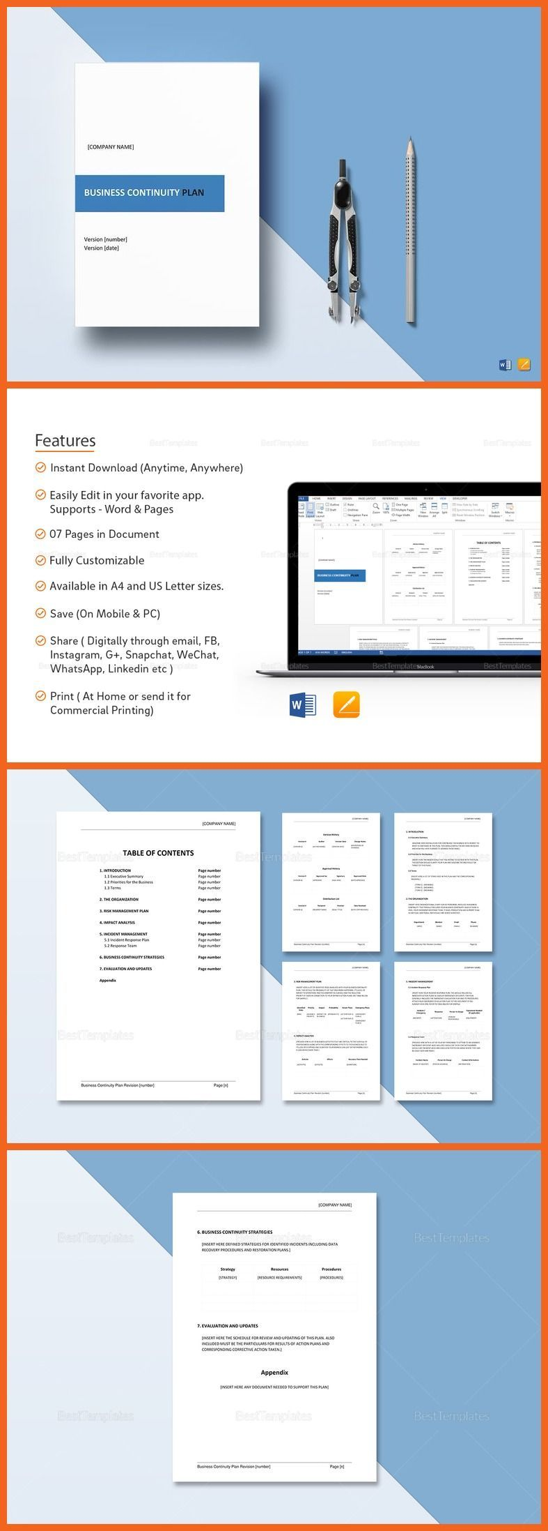 Business Continuity Plan Template Business continuity