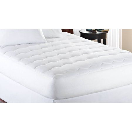 """Free 2-day shipping on qualified orders over $35. Buy Mainstays Extra Thick 1"""" Mattress Pad, White at Walmart.com"""