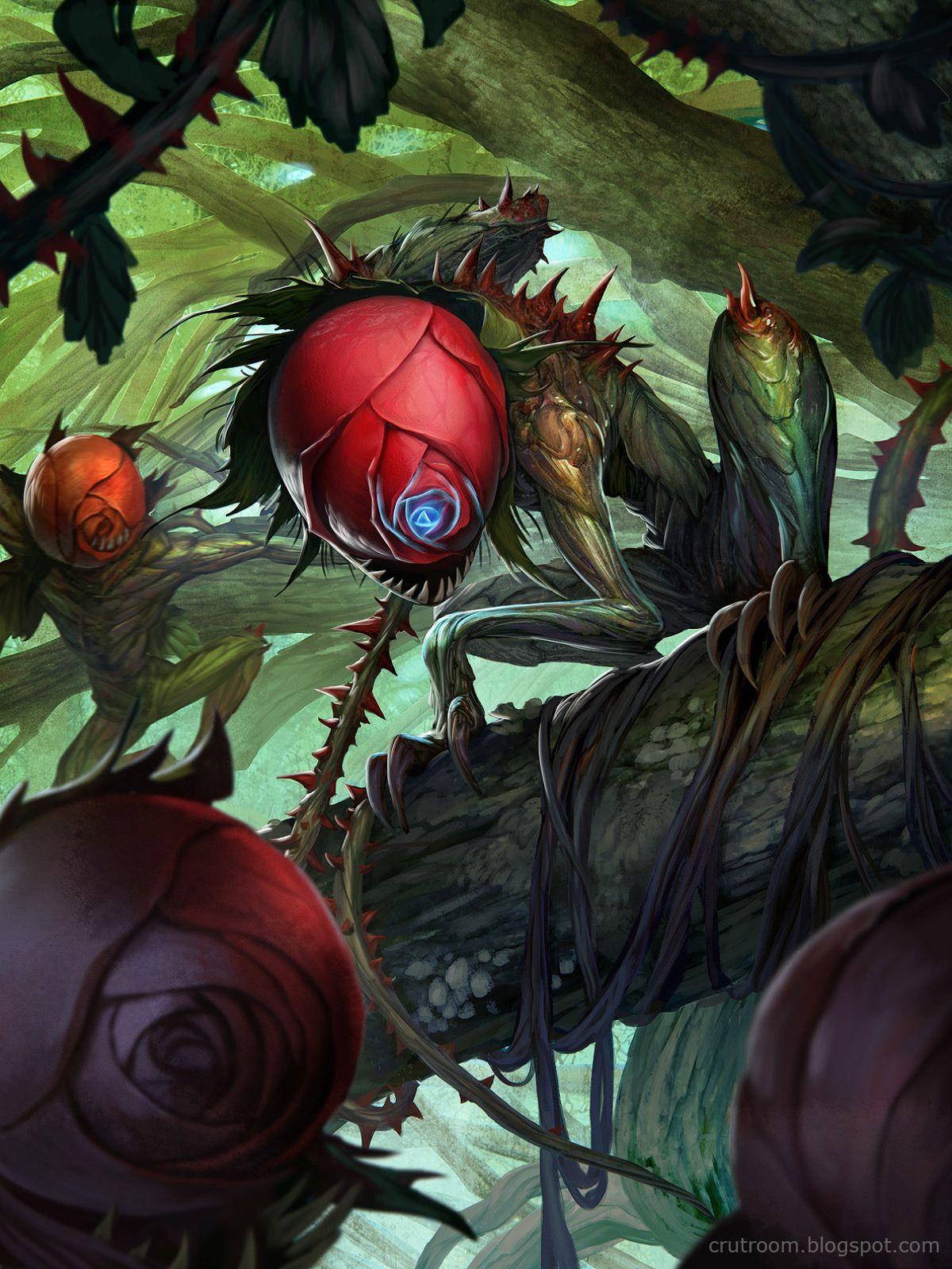 Artist: Rudy Siswanto aka crutz - Title: Rose Demon norm - Card: Murderous Rose Demon