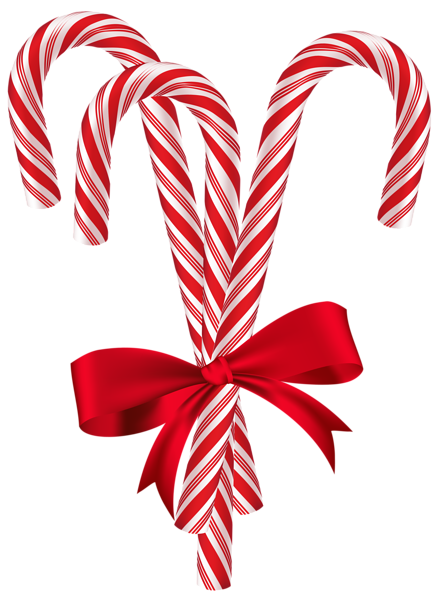 Candy Canes with Red Bow PNG Clip Art Image Christmas