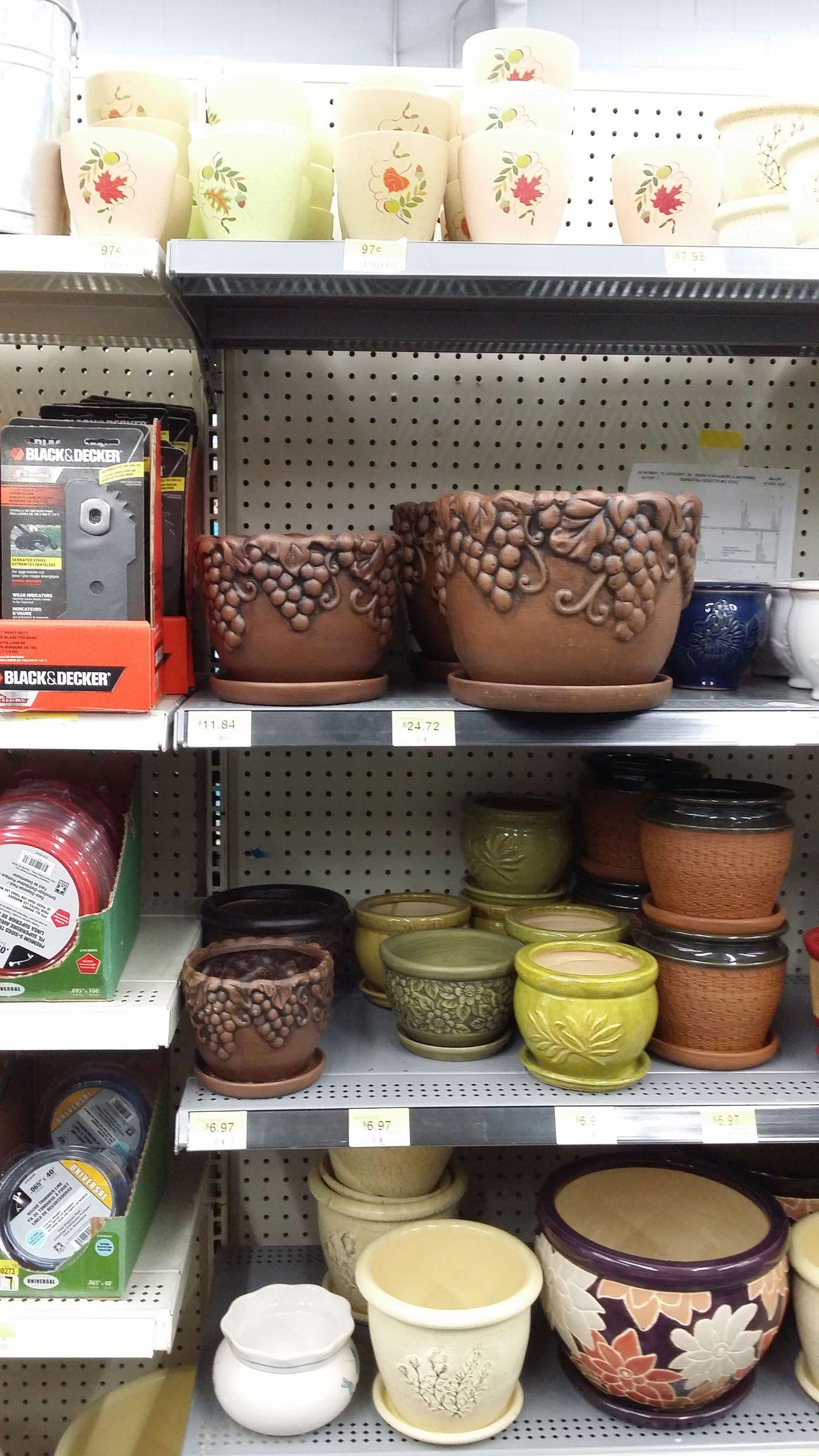 fall 2014, flowerpots at walmart