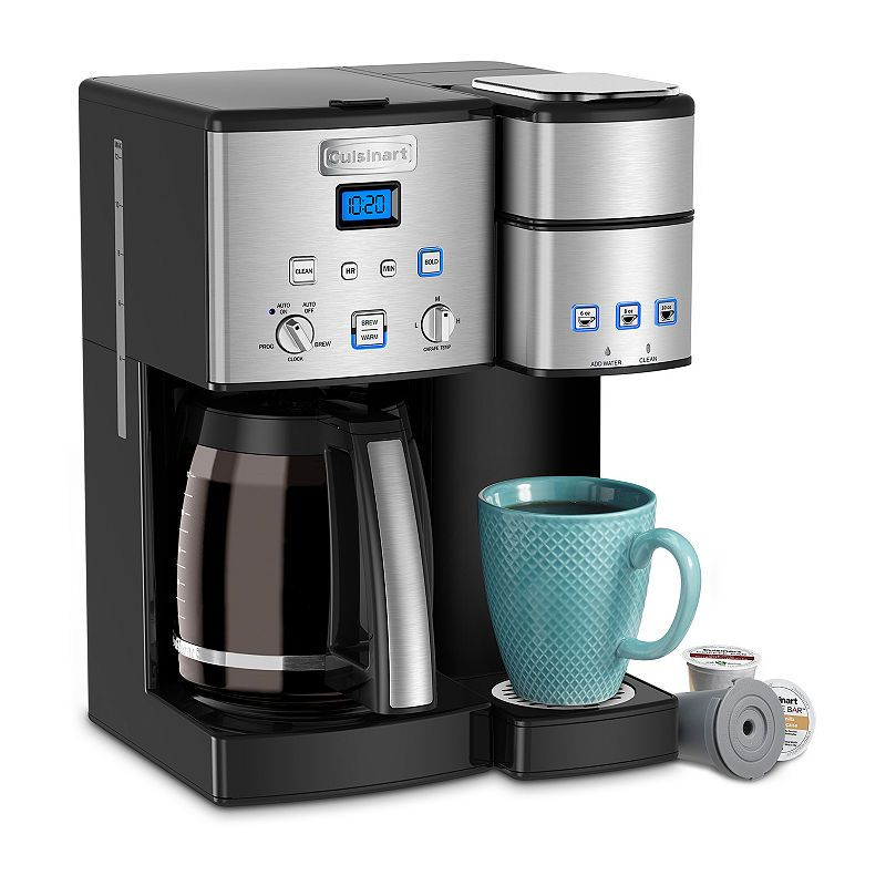 Cuisinart Coffee Center 12 Cup Coffeemaker And Single Serve Brewer Single Coffee Maker Single Serve Coffee Makers Coffee Center