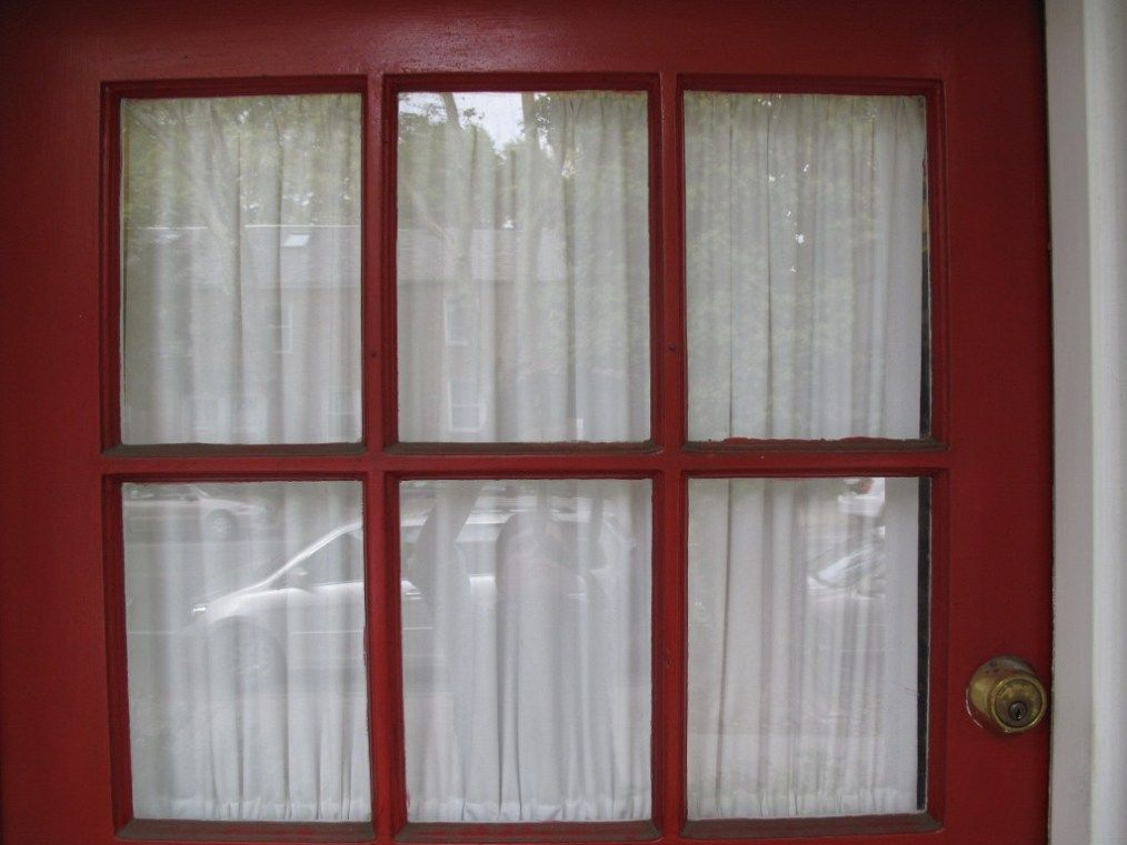 Front Door Curtain Attached Top And Bottom White Sheer Not Lace Front Door Curtains Front Door Curtains