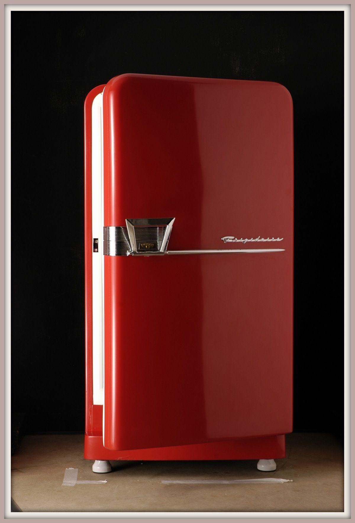 A retro red refrigerator red retro appliances