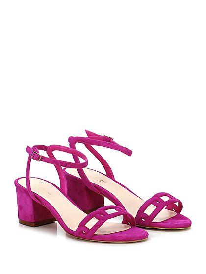 Sandali multicolore con allacciatura elasticizzata per donna fIlUUBG5g