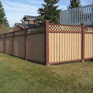 Garden Wooden Fence Lattice Color Ideas Brown Fence Color Paint