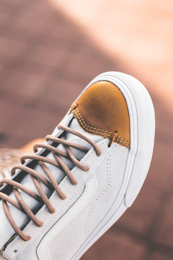 f6abfa9b3893 Leather Toe White Vans CA Mens Fashion Shoes