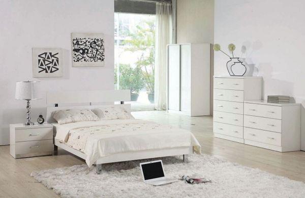 Schlafzimmer komplett in weiß einrichten – Ruhe und Entspannung ...