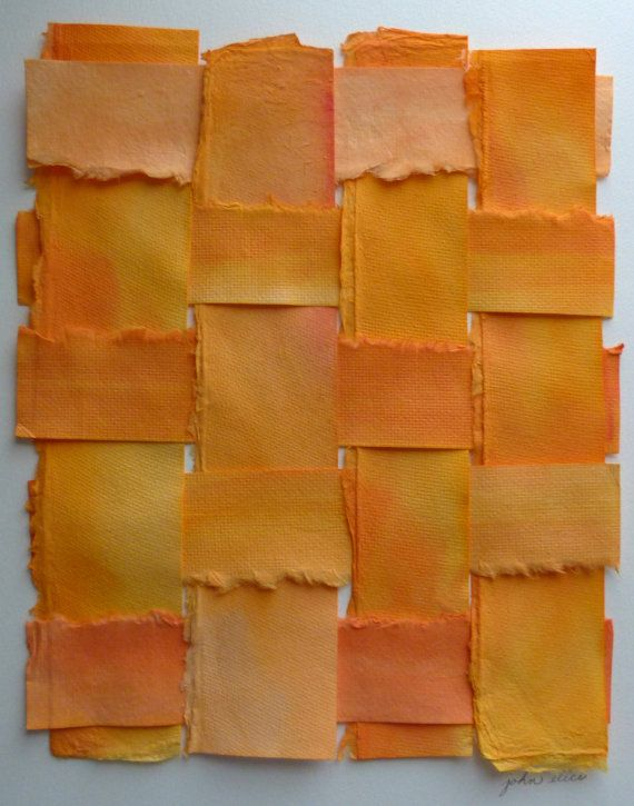 Sculptural Contemporary Handpainted Woven Paper by JohnElice