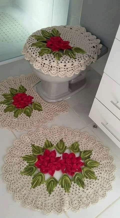 Ideias Para Usar Tapetes De Croché Na Decoração