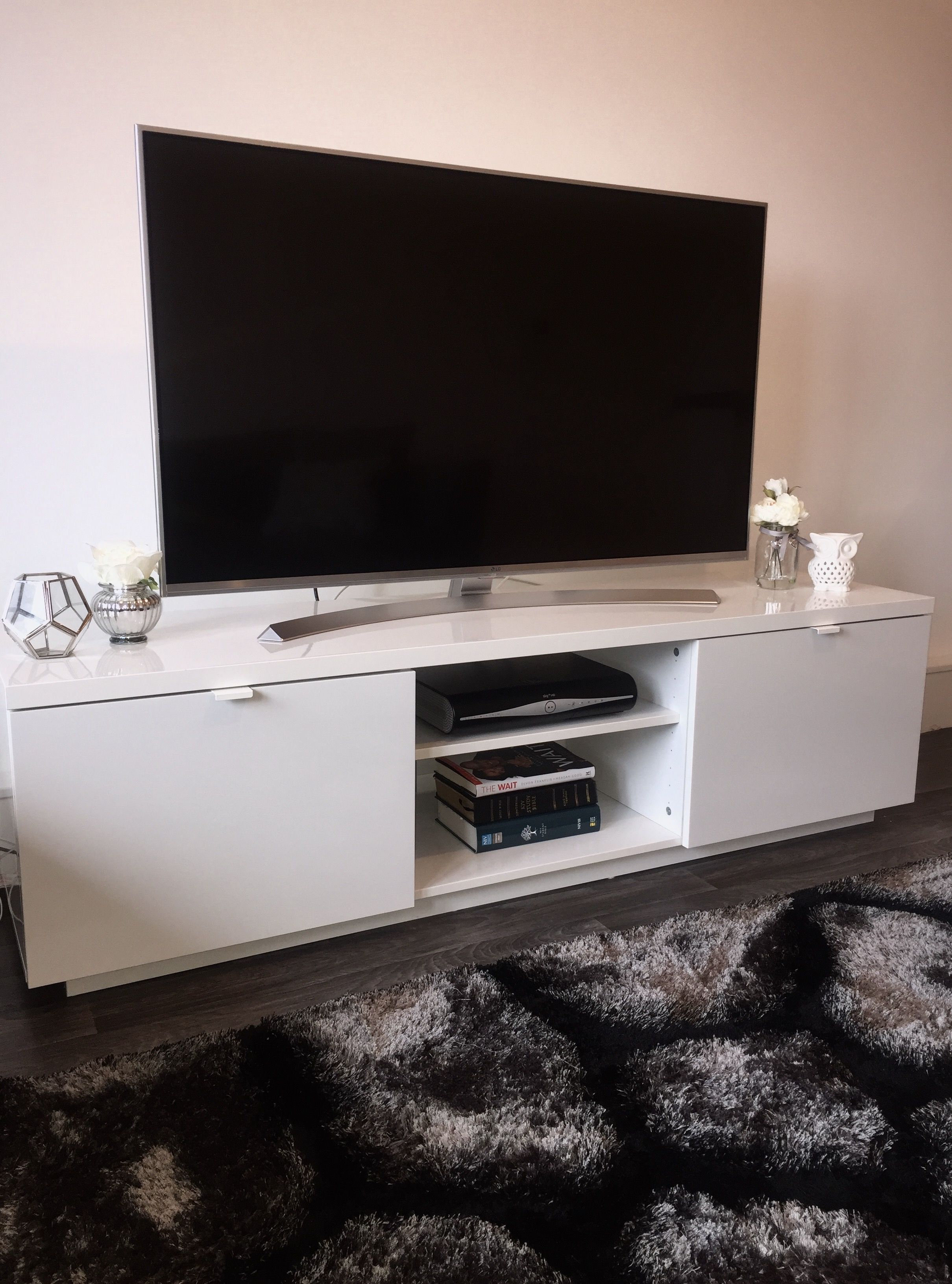 My Ikea Byas Tv Stand Lg 4k Ultra Hd Tv 3d My Tv Stand Decor