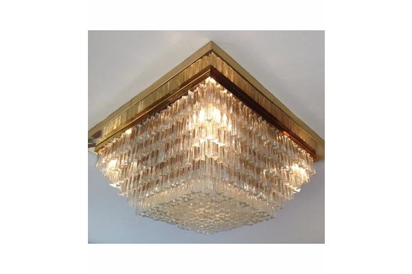 Large Venini Crystal Chandelier Chandelier Ceiling Lights