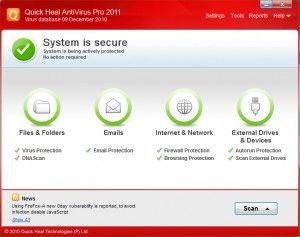 Quick Heal AntiVirus Pro Antivirus Internet Security 2012 | Anti