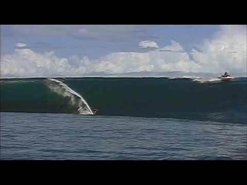 chapter 27 from the surfing documentary riding giants featuring laird hamilton riding a big wave