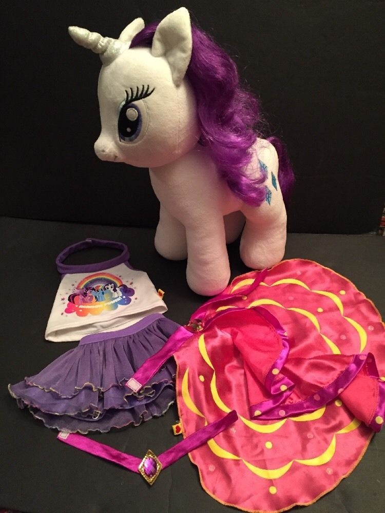 My Little Pony Rarity BABW Plush With Sound & Clothes 15 Inch #BuildABearWorkshop