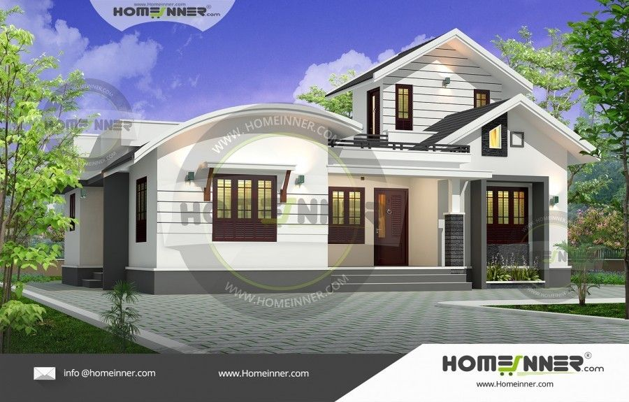 Fusion style bhk ground floor elevation free house plans kerala houses luxury also pinterest rh