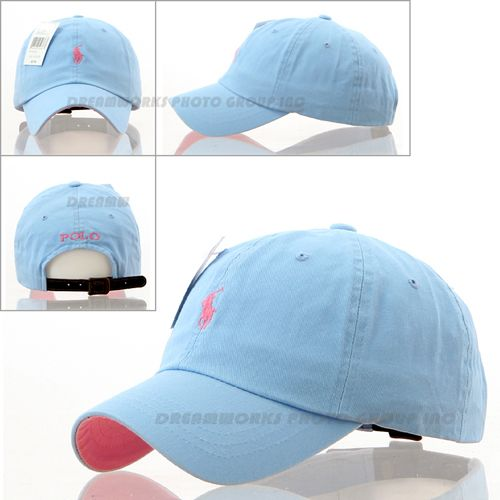 50150ebf8a6 Light Pink Cap Small Light Blue Logo Polo Baseball Hat SP69 Golf Tennis  Outdoor