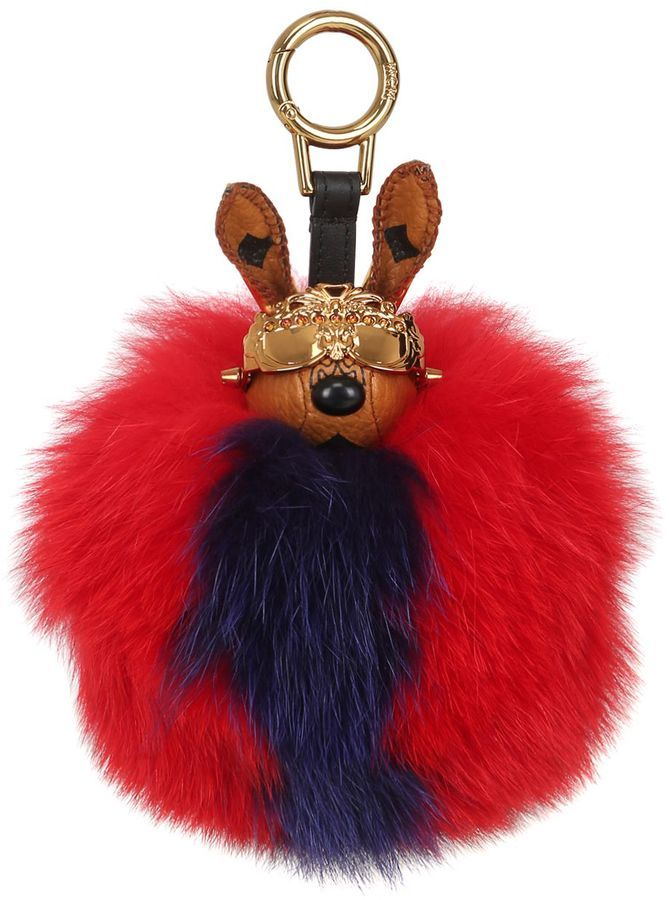 Mcm Rabbit Bag Charm With Fox Fur   A C C E S S O R I E S ... 3e88864b62