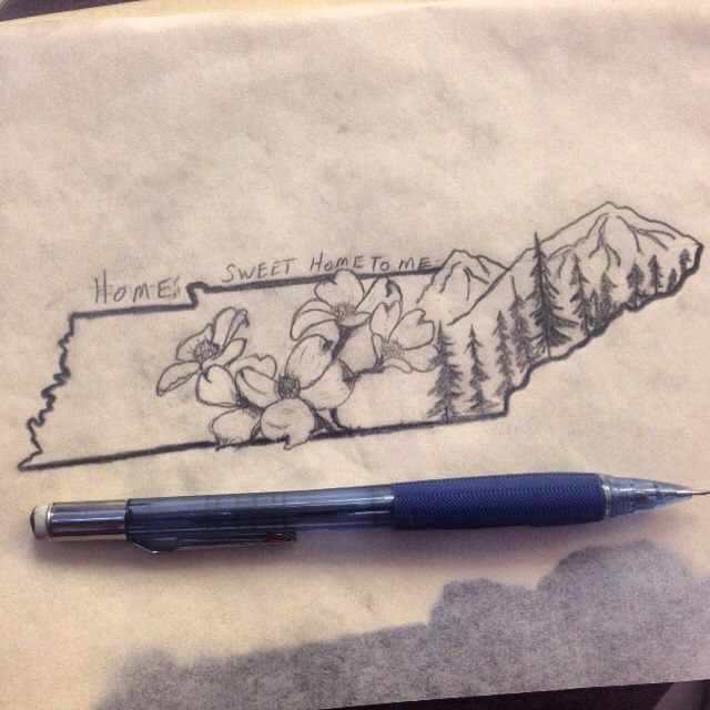 Tennessee Tattoo Tennessee Tattoo Mountain Tattoo Body Art Tattoos