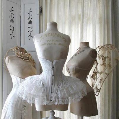 i love this  vintage corset dress form mannequin