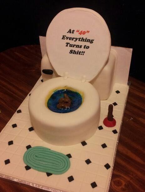 Adult humor birthday cake.
