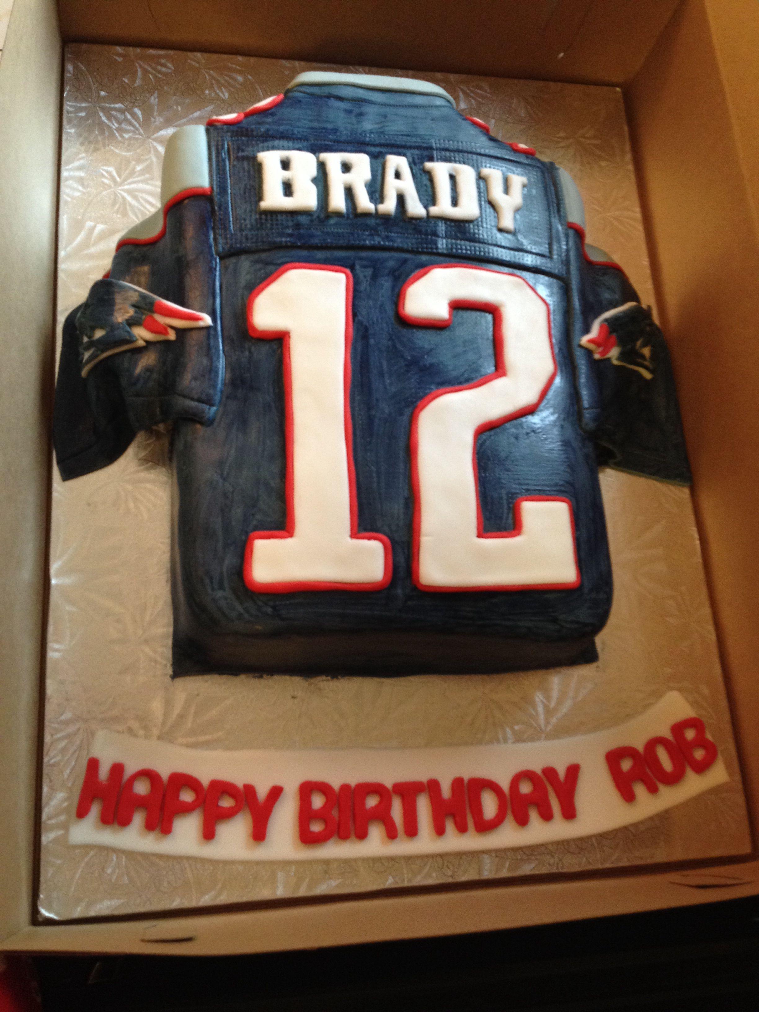Groovy New England Patriots Jersey Cake Vanilla For 35Th Birthday Funny Birthday Cards Online Elaedamsfinfo