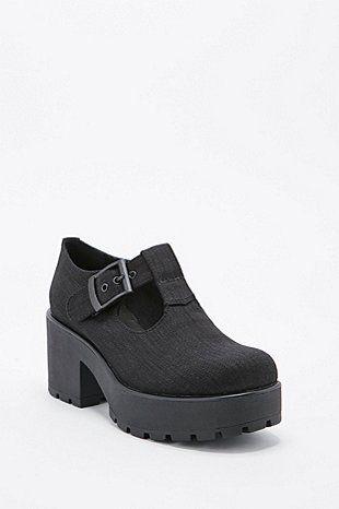 Black Vagabond Dioon T Bar Shoes