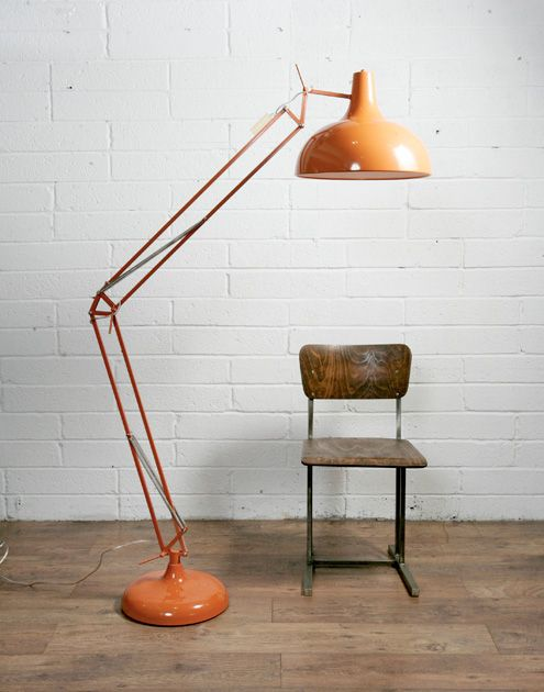 Muno Giant Floor Lamp – Orange. Anglepoise type, much cheaper ...