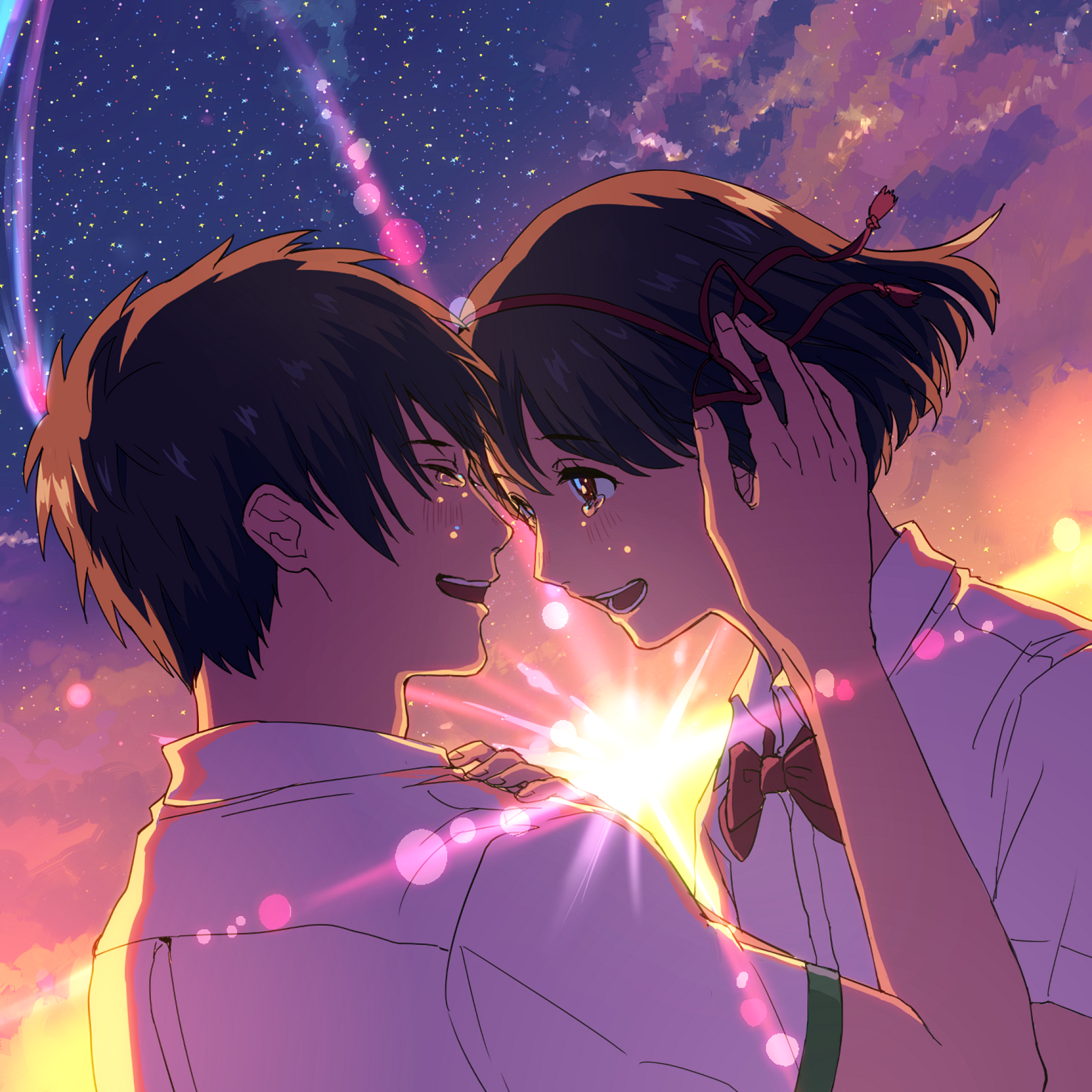 Love Story Tap To See More Cute Anime Love Romantic Wallpapers Mobile9 Kimi No Na Wa Wallpaper Your Name Anime Kimi No Na Wa