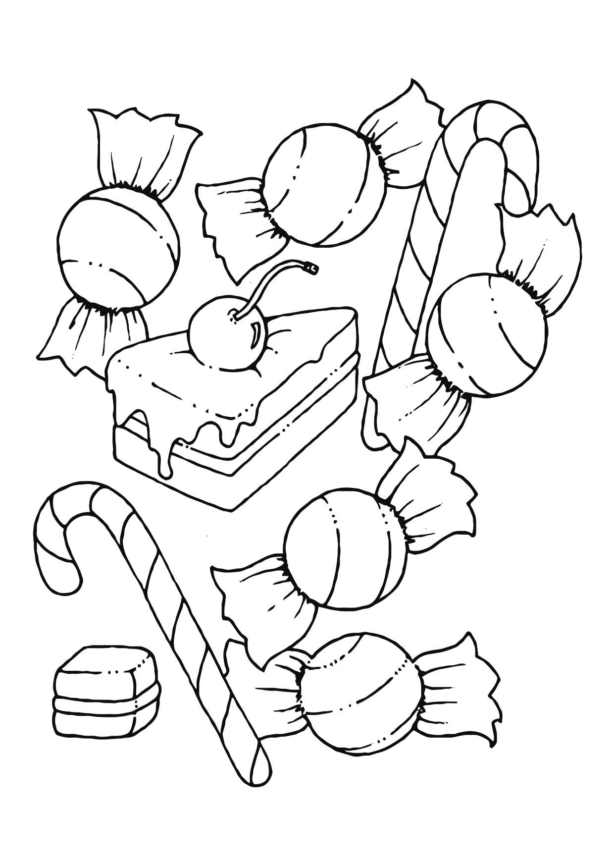sweets coloring pages Free Printable Candy Coloring Pages For Kids | Christmas n winter  sweets coloring pages