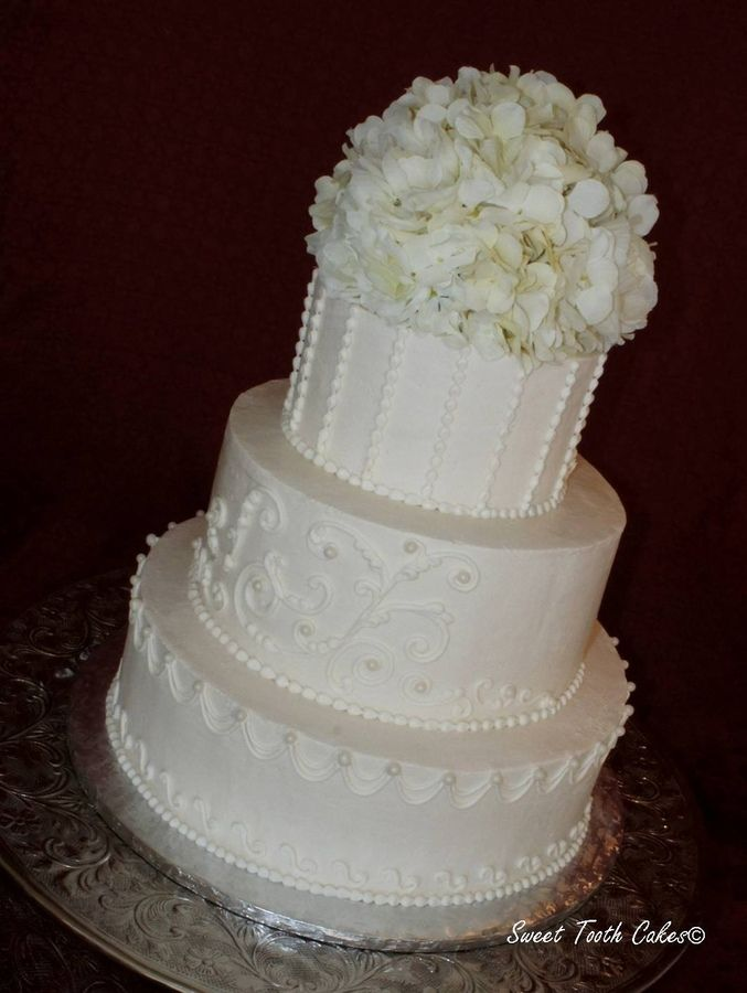 simple buttercream wedding cake white buttercream wedding cake all buttercream hydrangea and rose