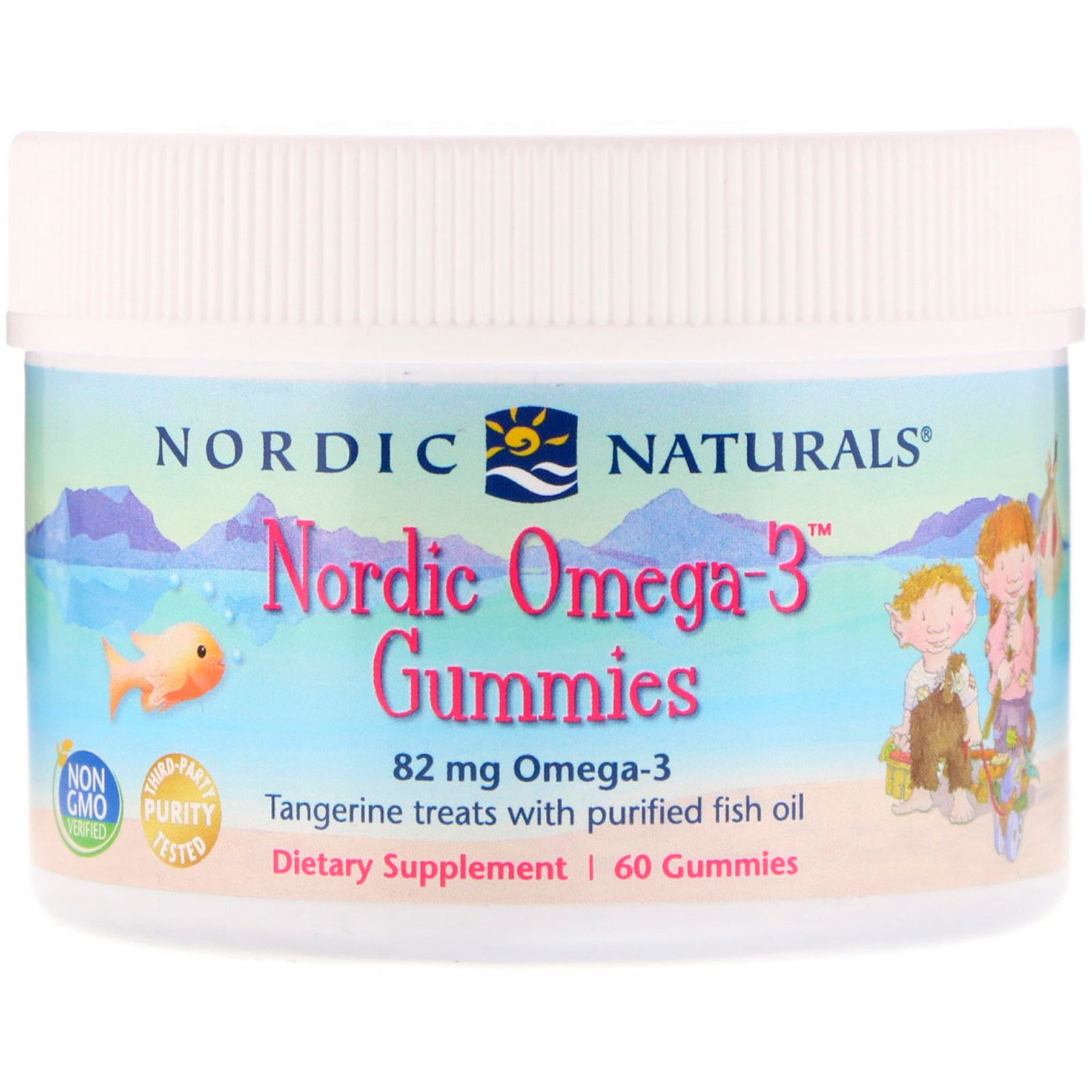 Nordic naturals nordic omega3 gummies tangerine treats